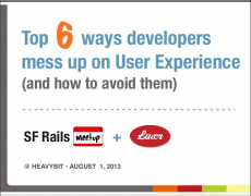 Talk :: SF Rails Meetup @ HeavyBit