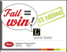Talk :: Fail=Win : UX Edition @ Lean Crossroad