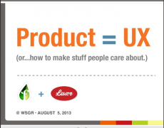 Talk :: Product = UX @ Founder Institute