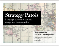 Talk :: Strategy Patois @ Webvisions