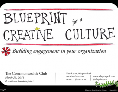 Talk :: Blueprint for a Creative Culture @ Commonwealth Club