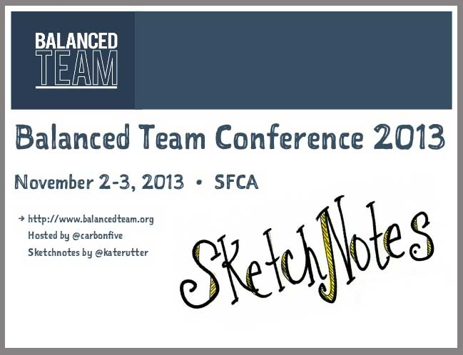 Balanced Team sketchnotes deck cover