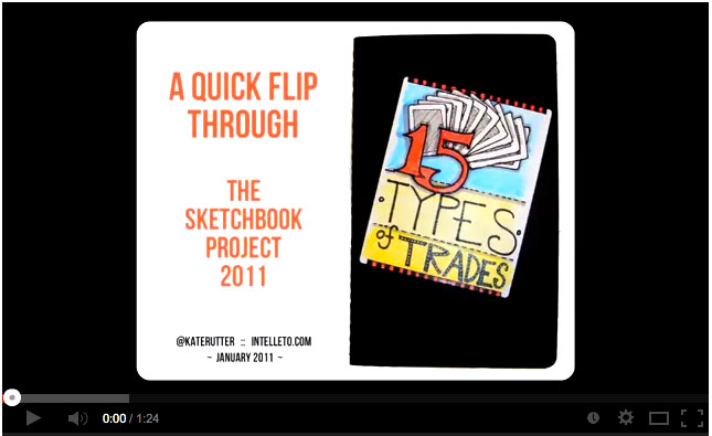 Sketchbook Project Video Flipthrough thumbnail