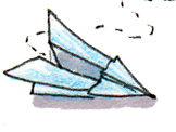 paper airplane sketch