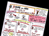 Sketchnotes from O'Reilly Webcast :: The Three Reasons Users Don't Convert, with Laura Klein