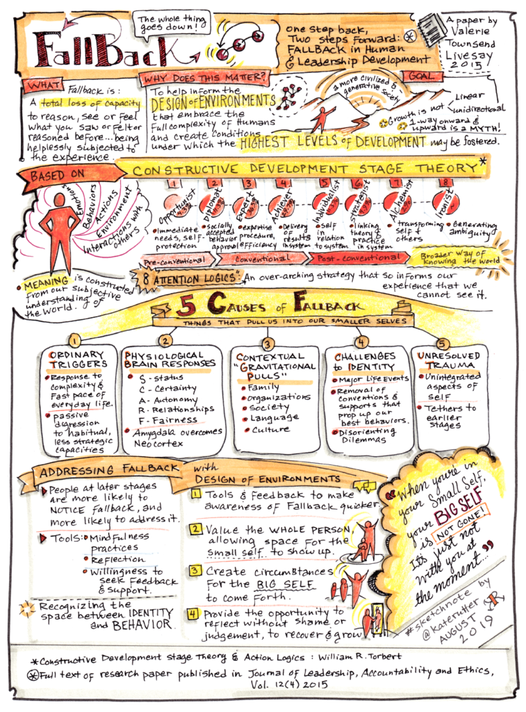 Sketchnote of Fallback - a paper by Valerie Townsend Livesay, 2015